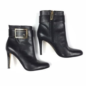 Louise et Cie Black Heels Booties With Buckle